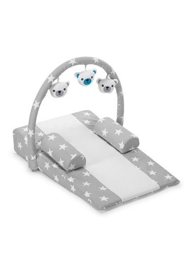 POKY Yeni Sezon Bebek Çok Amaçlı Oyuncaklı Reflü Yatağı Yastığı Gri